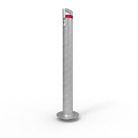 Cam-lok Surface Mounted Removable Bollard 90mm Economy Lock  - Galvanised