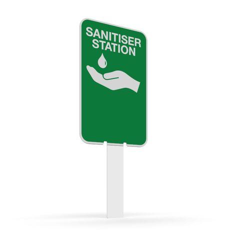 Pilot Sign - Hand Sanitiser Station - 200 x 125 x 1.4mm Polypropylene