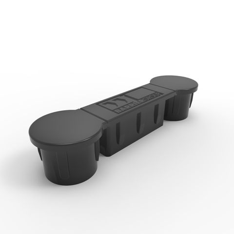 Cap to suit PR Rail 145 x 40mm - Black Plastic
