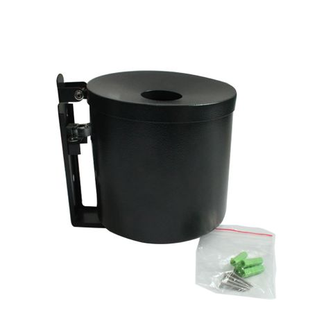 Smoker's Bin - Wall Mounted 2.5lt - Powder Coated Black