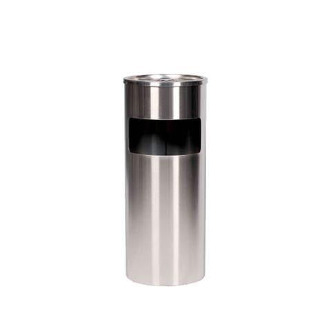 Smoker's Bin - Free Standing Round 16lt - Stainless Steel