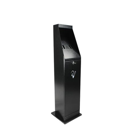 Smoker's Bin - Free Standing - Powder Coated Black