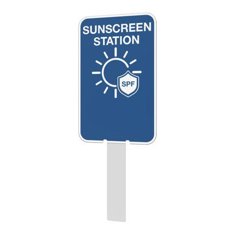 Pilot Sign - Sun Screen Station - 200 x 125 x 1.4mm Polypropylene