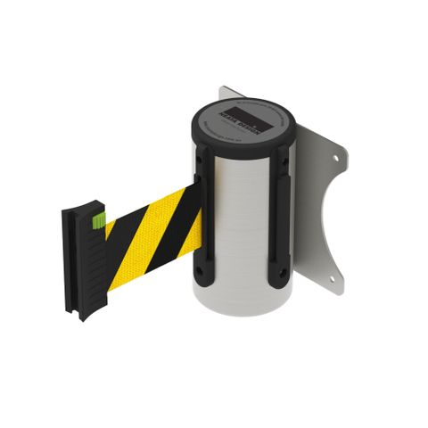 Wall Mount Barrier 3m - 304 Stainless Steel - Black/Yellow