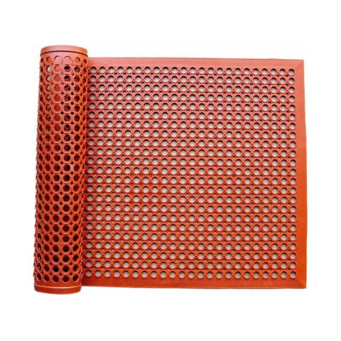Floor Mat - Anti Fatigue Oil Resistant 910 x 1520 x 13mm - Red