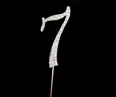 7CM NUMBER 7 - DIAMANTE TOPPER