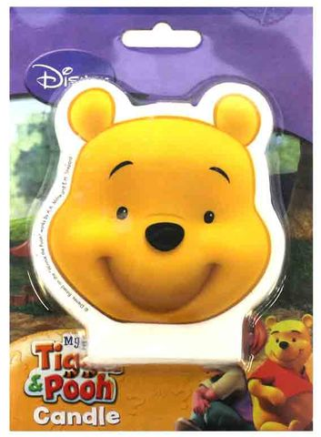 WINNIE THE POOH - FACE FLAT CANDLE