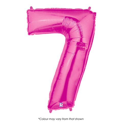 BALLOON | FOIL MEGALOON | NUMBER 7 | PINK | 40 INCH