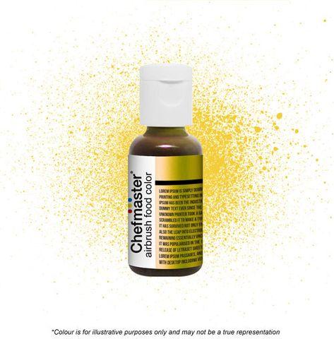 CHEFMASTER | METALLIC GOLD | AIRBRUSH FOOD COLOUR | 0.67 OZ/19 GRAMS