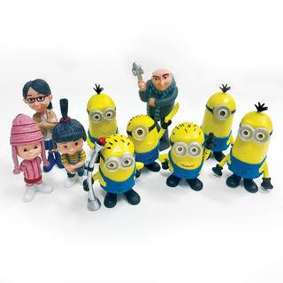 DISPICABLE ME/MINIONS PLASTIC FIGURINES (10 PIECE SET)