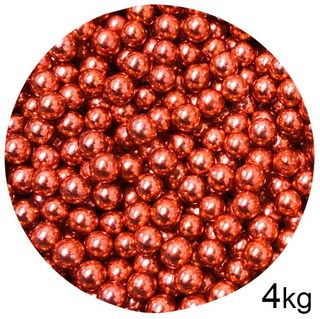 CACHOUS/BALLS | RED | 8MM | SPRINKLES | 4KG BOX