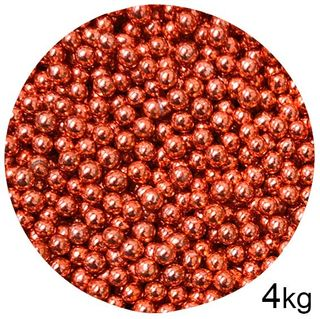 CACHOUS/BALLS | RED | 5MM | SPRINKLES | 4KG BOX