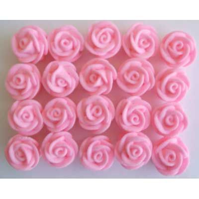 SMALL SWIRL ROSE SUGAR FLOWERS (128) PINK