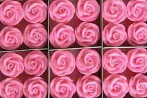 MEDIUM SWIRL ROSE SUGAR FLOWERS (144) PINK