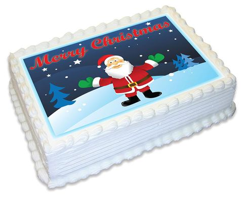 MERRY CHRISTMAS NO 3 -  A4 EDIBLE ICING IMAGE - 29.7CM X 21CM (APPROX.)