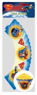 SUPERMAN - CUPCAKE WRAPS (12 PC)