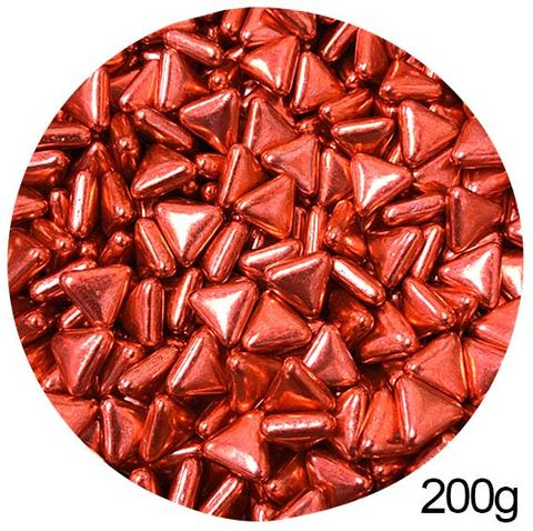TRIANGLE SHAPE SPRINKLES | RED | 200G