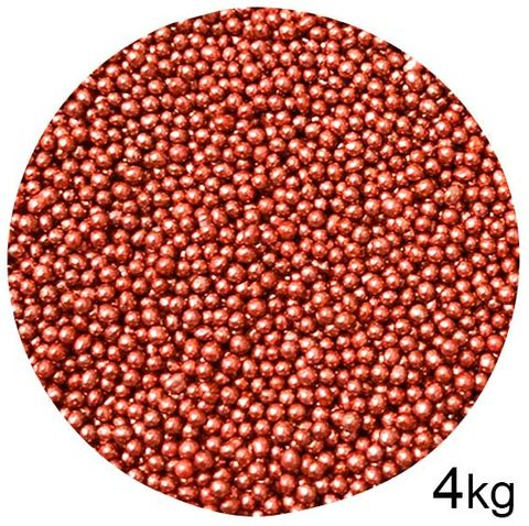 CACHOUS/BALLS | RED | 2MM | SPRINKLES | 4KG BOX