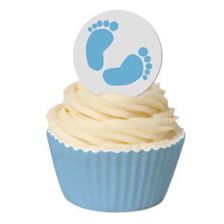 BABY FEET BLUE - 1.5 INCH ROUND