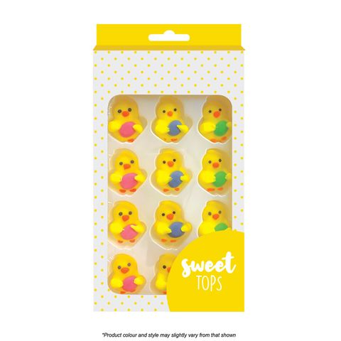 SWEET TOPS | CHICK WITH EGG | ICING DECORATIONS | 12 PIECES