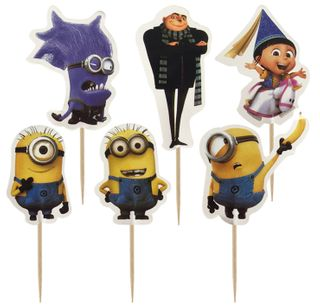 DESPICABLE ME/MINIONS - CUPCAKE PICKS - 24 ASSORTED PIECES