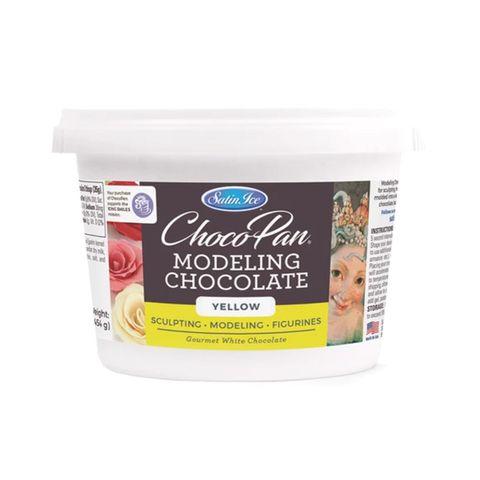 SATIN ICE | CHOCOPAN MODELING CHOCOLATE | YELLOW | 454G