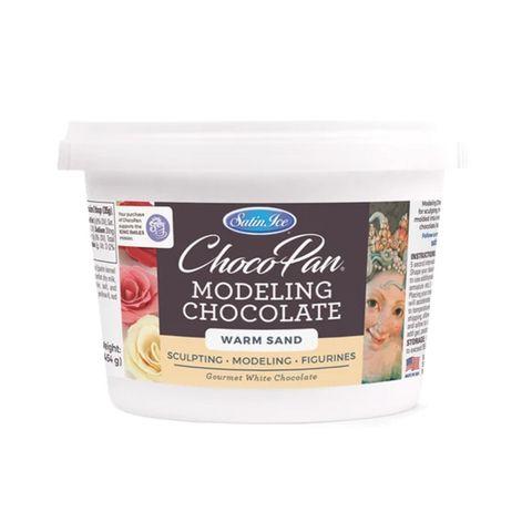 SATIN ICE | CHOCOPAN MODELING CHOCOLATE | WARM SAND | 454G