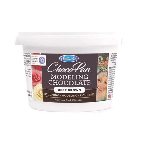 SATIN ICE | CHOCOPAN MODELING CHOCOLATE | DEEP BROWN | 454G