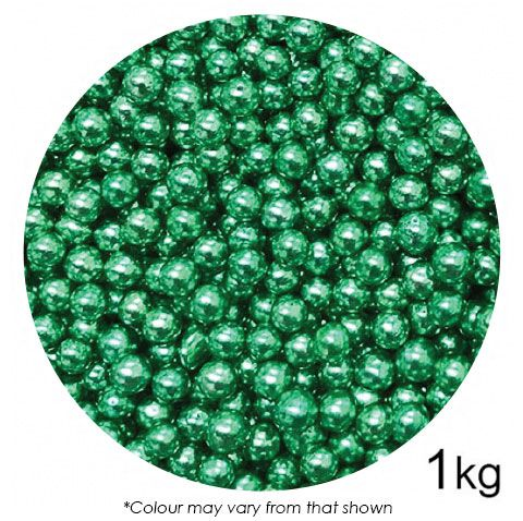 SPRINK'D | CACHOUS/BALLS | 6MM | METALLIC GREEN | 1KG