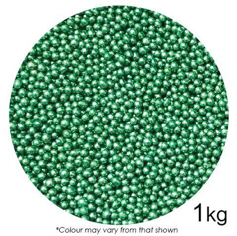 SPRINK'D | CACHOUS/BALLS | 2MM | METALLIC GREEN | 1KG