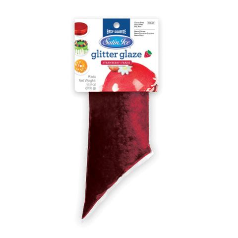 SATIN ICE | GLITTER GLAZE | STRAWBERRY | 250G