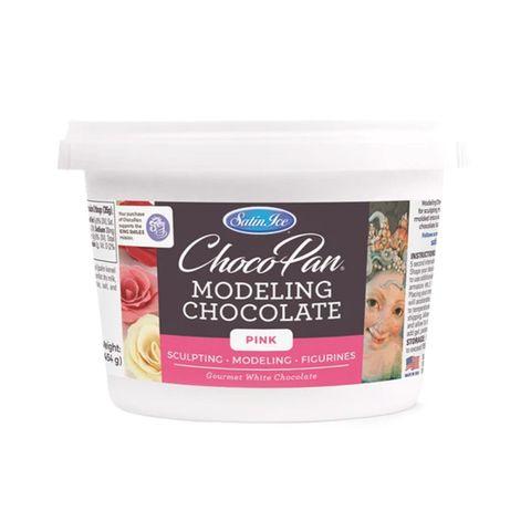 SATIN ICE | CHOCOPAN MODELING CHOCOLATE | PINK | 454G