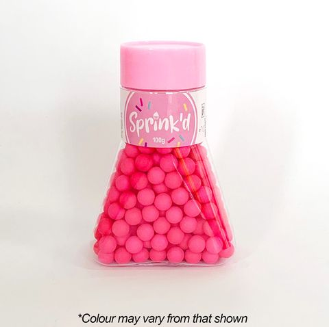 SPRINK'D | SUGAR BALLS | BRIGHT PINK | 8MM | 100G