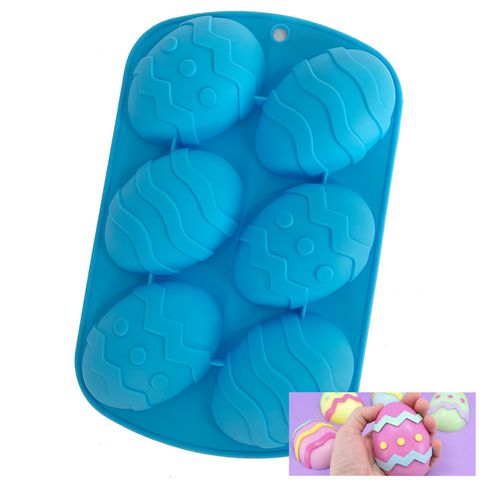 6 EASTER EGG   SILICONE MOULD