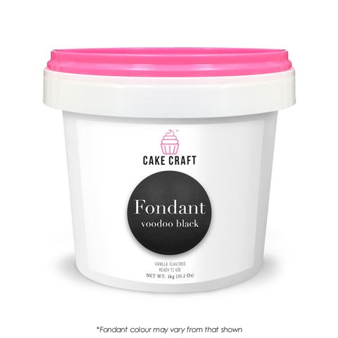 CAKE CRAFT | FONDANT | VOODOO BLACK | 1KG