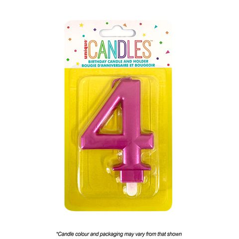 NUMBER 4 | METALLIC PINK | CANDLE
