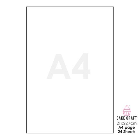 FROSTING SHEETS | A4 | 24 SHEETS