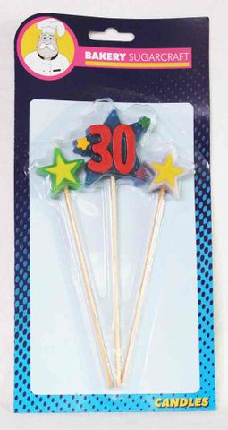 BSC - #30 THREE STAR PICK CANDLE (6)