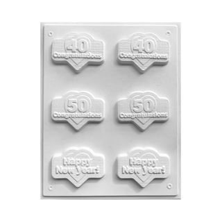 40/50 CONGRATULATIONS/HAPPY NEW YEAR | CHOCOLATE MOULD