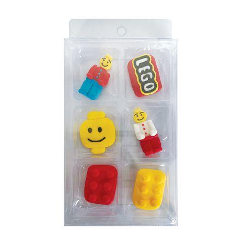 LEGO   SUGAR DECORATIONS   6 PIECE PACK