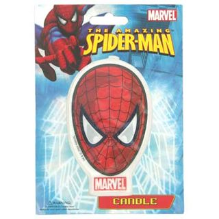 SPIDERMAN CLASSIC FACE FLAT CANDLE (6)