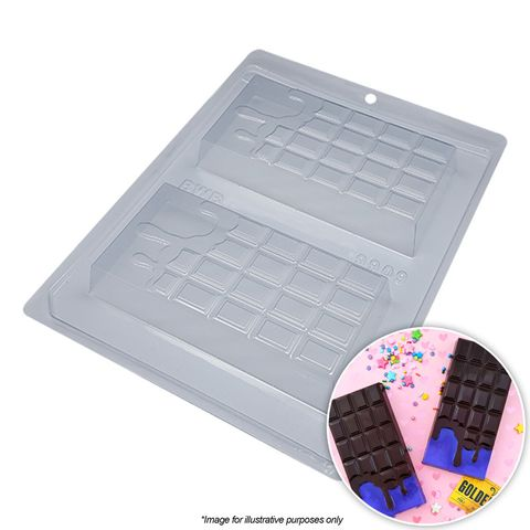 BWB | MELTED CHOCOLATE BAR MOULD | 3 PIECE