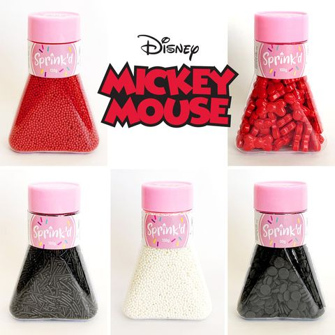 MICKEY MOUSE THEME SPRINKLES   SET OF 5