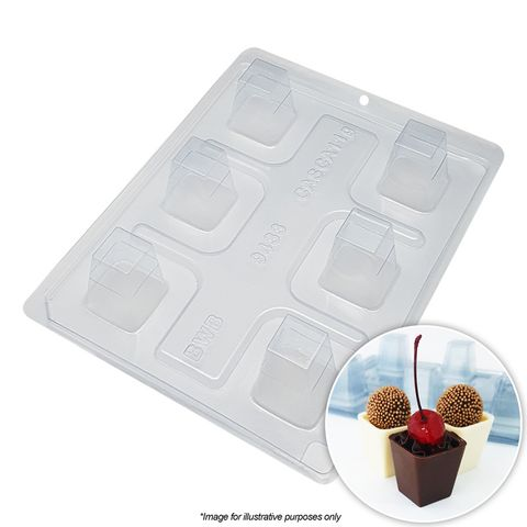 BWB | TALL SQUARE MOUSSE CUP MOULD |  3 PIECE