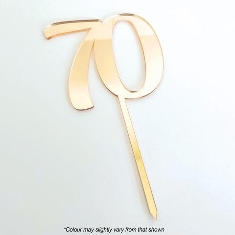 CAKE CRAFT   #70   9CM   GOLD MIRROR   ACRYLIC CAKE TOPPER