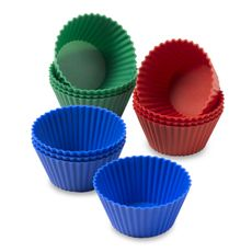 408 SILICONE BAKING CUPS - ROUND (6 PIECES)
