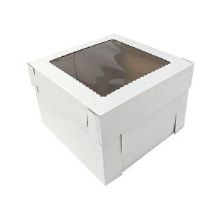12X12X8 INCH CAKE BOX & LID WITH WINDOW | CORRUGATED