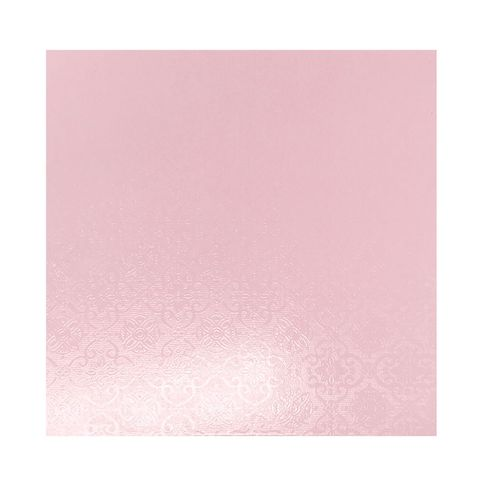 CAKE BOARD | PINK | 6 INCH | SQUARE | MDF | 6MM THICK