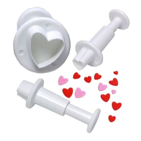 HEART PLUNGER CUTTER | 3 PIECE SET