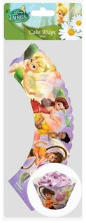 DISNEY FAIRIES - CUPCAKE WRAPS  (12 PC)